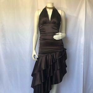 Chocolate Brown Halter Dress